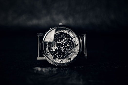 Free stock photo of black-and-white, wristwatch, vintage, technology
