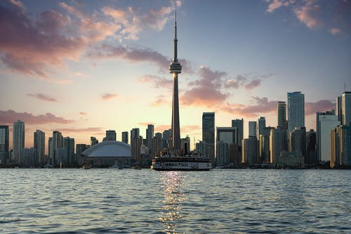Photo of CN Tower During Golden Hour
