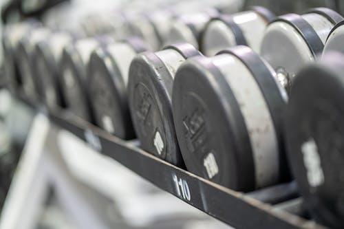 Photos gratuites de centre fitness, équipements de gym, fitness, haltère