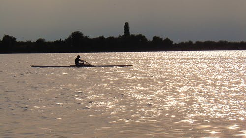 Gratis arkivbilde med båt, innsjø, lys og skygge, robåt