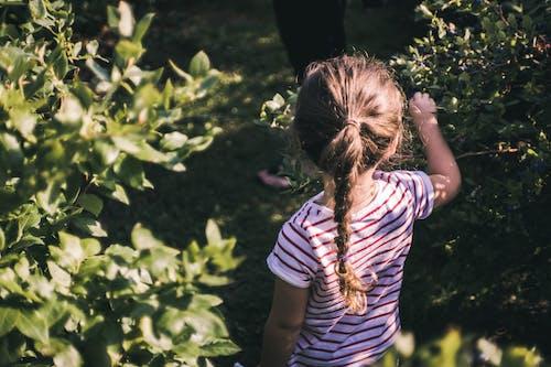 Girl Standing Between Green Plants