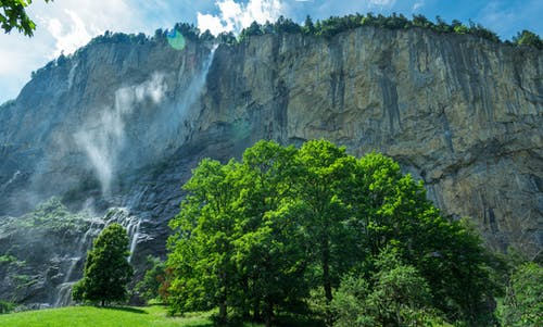 Free stock photo of cliff, cliffside, europe, lauterbrunnen