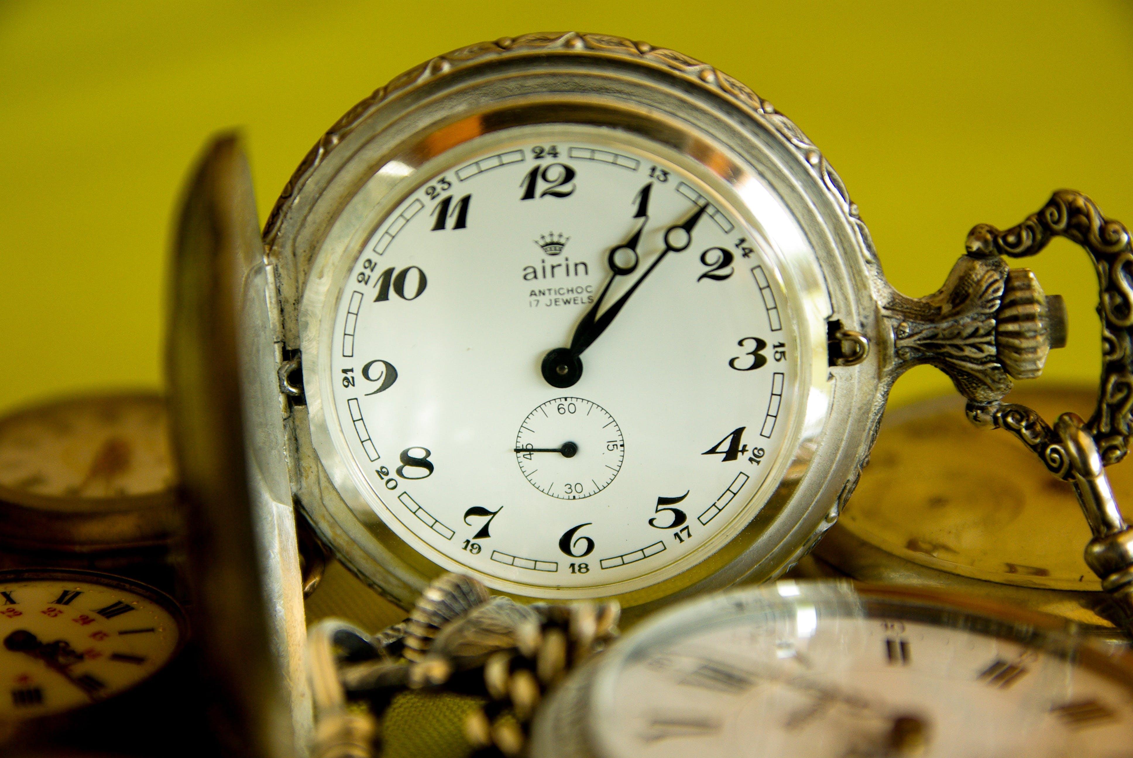 Free stock photo of time, flea market, points, pocket watch