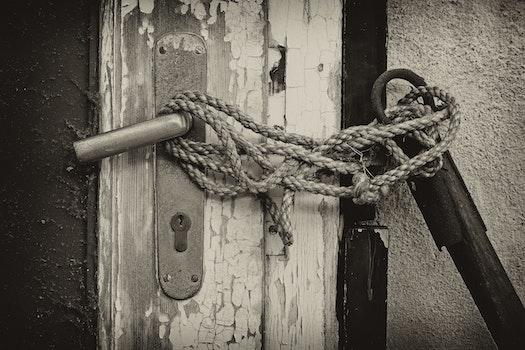 Free stock photo of rope, door, castle, old