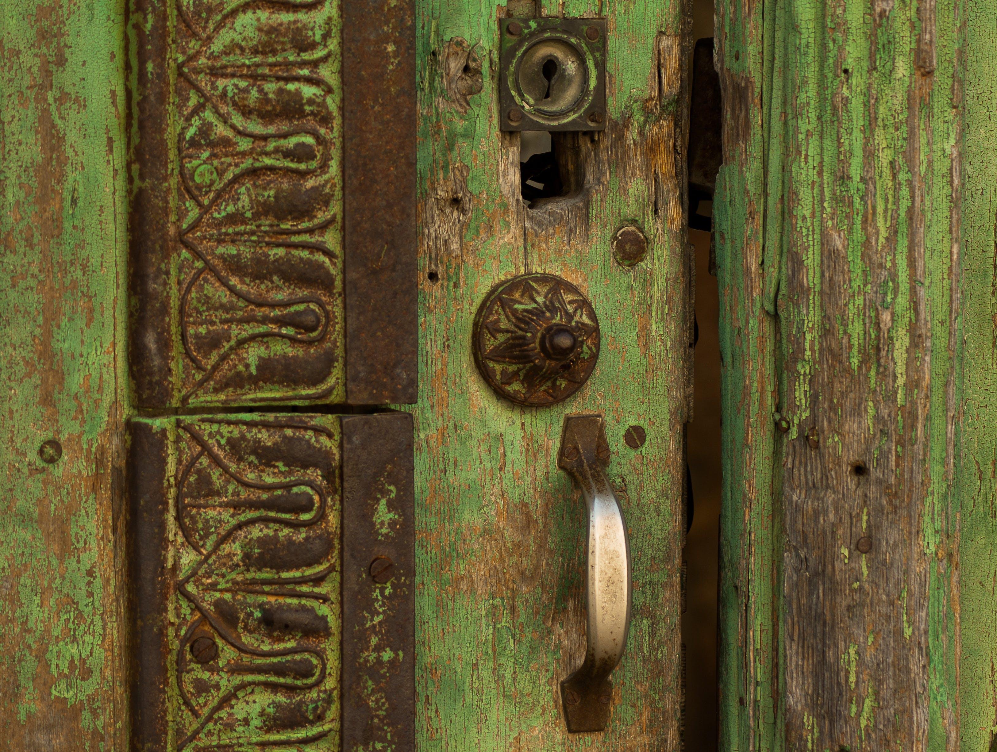 Free stock photo of door, entry, lock, wooden door