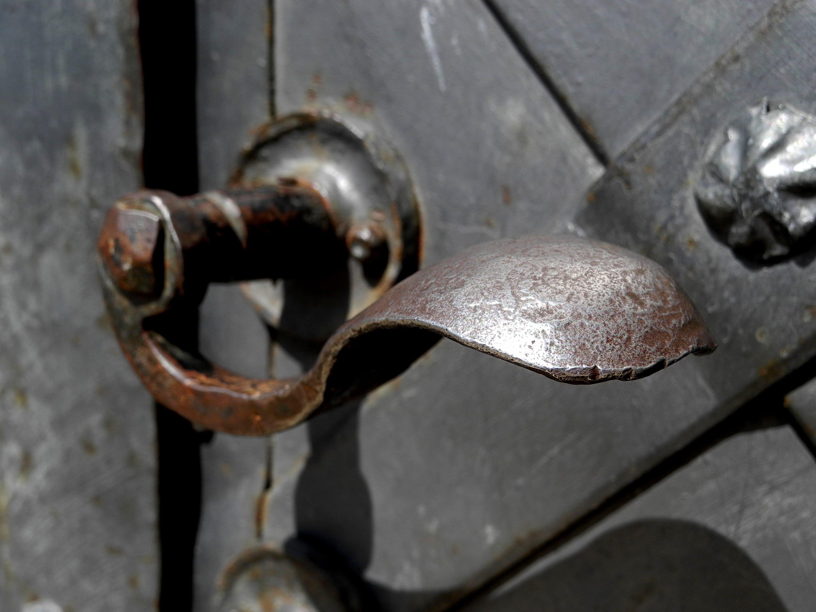 Free stock photo of door, handle, metal, old
