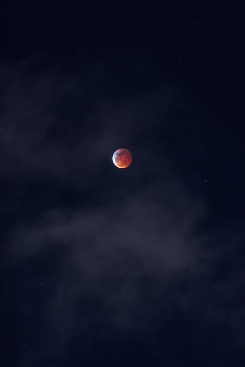 Darmowe zdjęcie z galerii z astronomia, ciemny, czerwony księżyc, księżyc