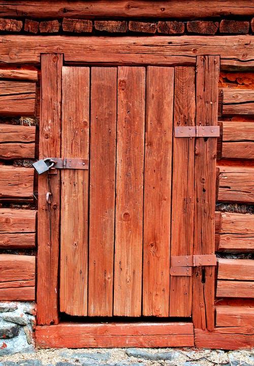 Kostnadsfri bild av dörr, grov, hårt träslag, ingång