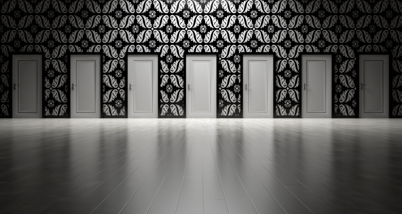 Seven White Closed Doors