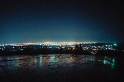 Foto stok gratis lampu kota, langit, malam, pemandangan kota