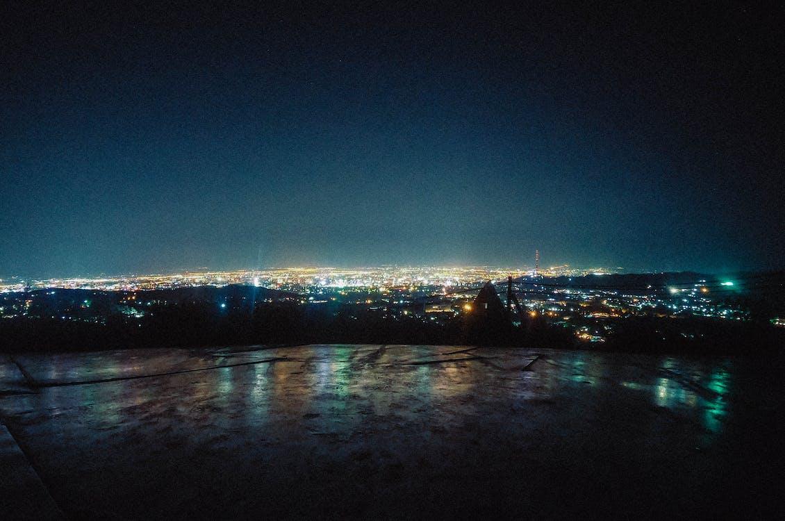 αστικό τοπίο, θέα στην πόλη, Νύχτα