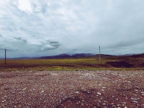 Foto stok gratis alam, Langit yang gelap, pemandangan gunung