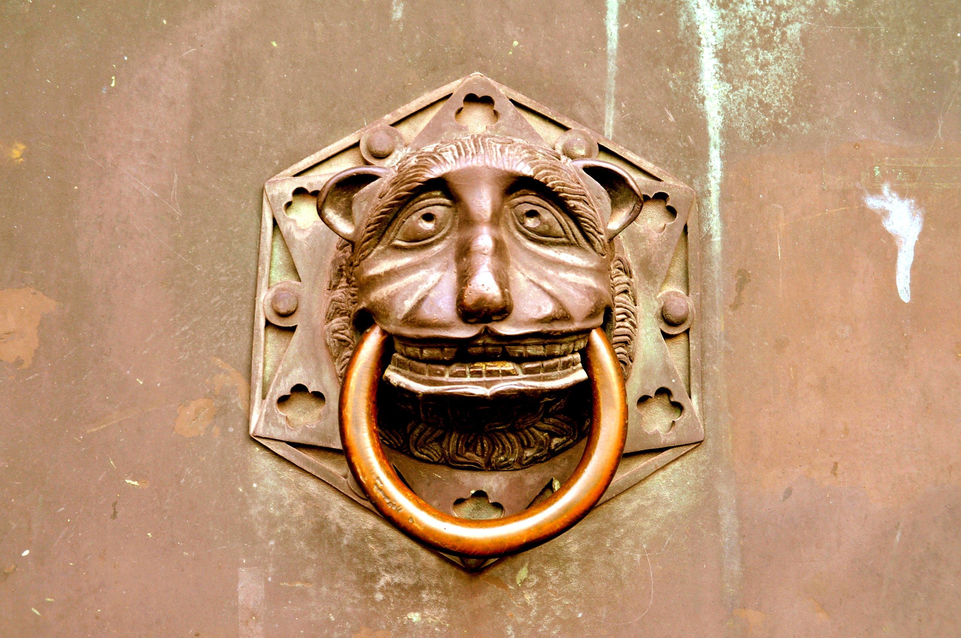 Free stock photo of door, hoop, knocker