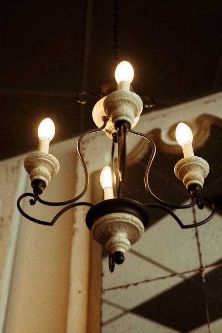 Low angle photo of chandelier