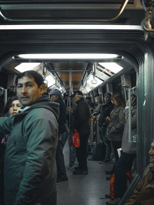 Kostnadsfri bild av ha på sig, kollektivtrafik, kvinnor, lampor
