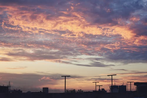 Free stock photo of clouds, sky, sunset, urban