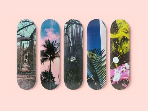 Different Designs Of A Skateboard