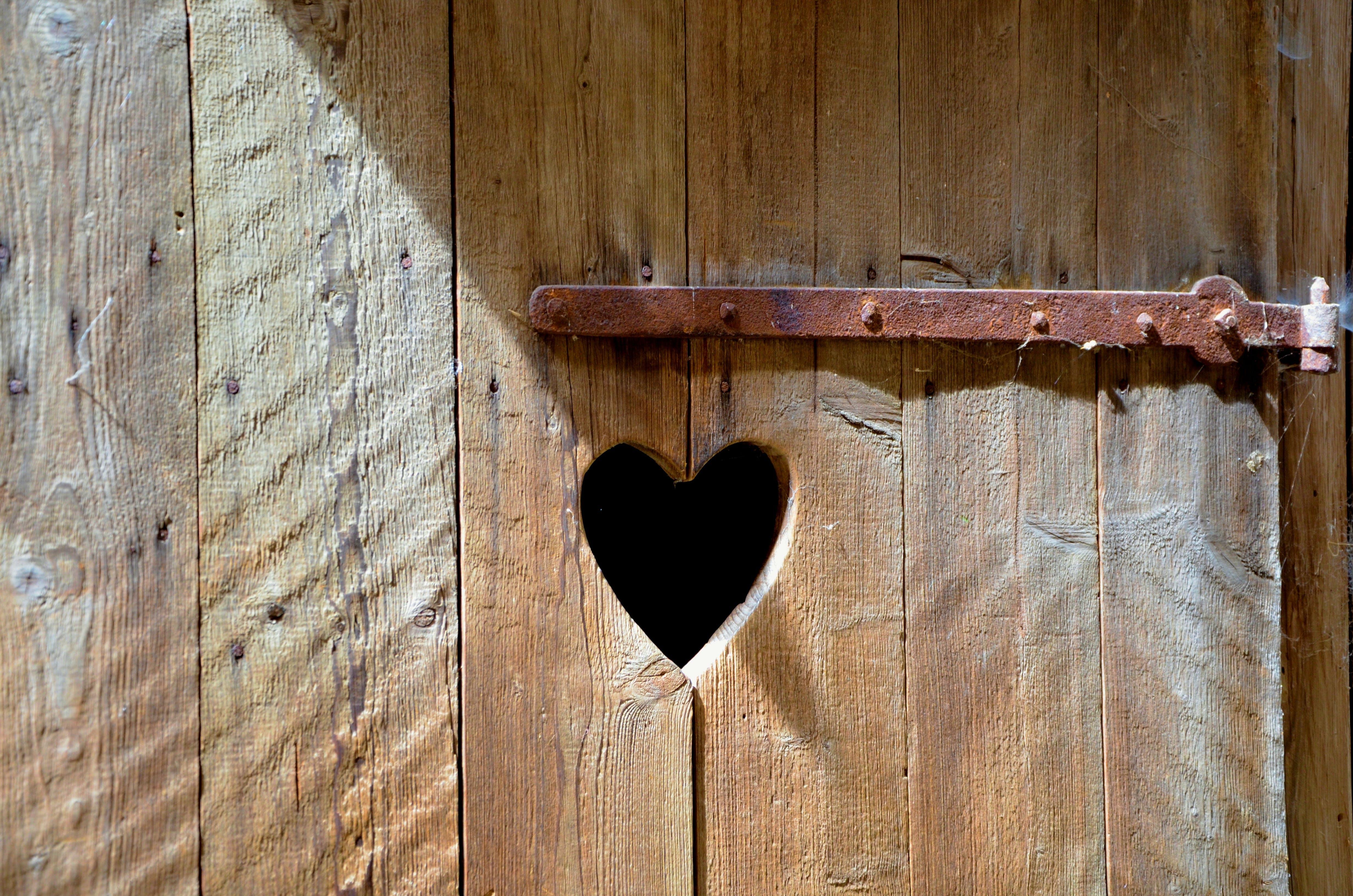 door, heart, old