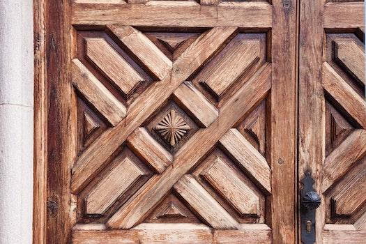 Free stock photo of wood, door, simply, detail