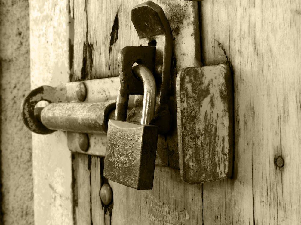 강철, 걸쇠, 나무