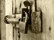 wood, rust, lock