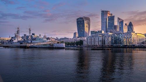Free stock photo of boat, buildings, london, sunrise