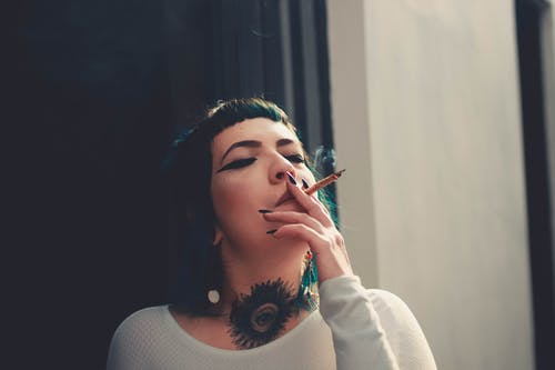 Photo Of Woman Smoking