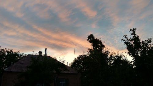 gün batımı, güzel gün batımı, Mavi gökyüzü, закат içeren Ücretsiz stok fotoğraf