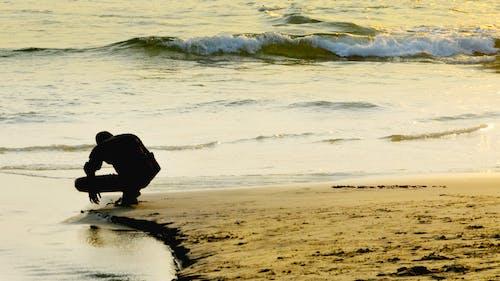 Ingyenes stockfotó homok, naplemente, sziluett, tenger témában