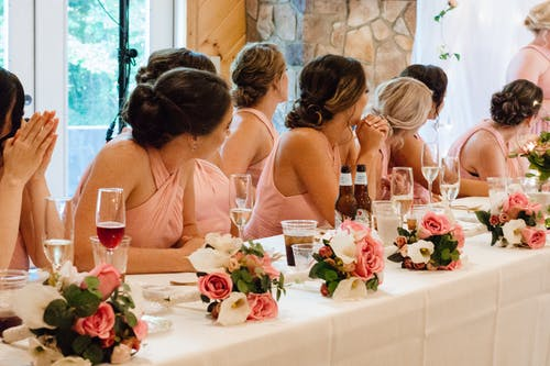 Free stock photo of bridesmaids, eyes, flowers, hands