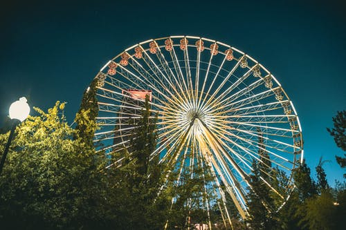 Photos gratuites de attractions, beau temps, fortune, grande roue