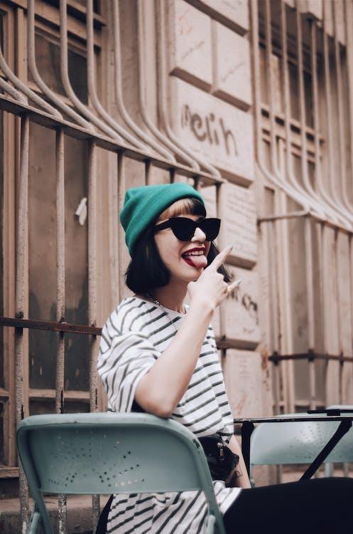 Photo Of Woman Wearing Stripe Shirts