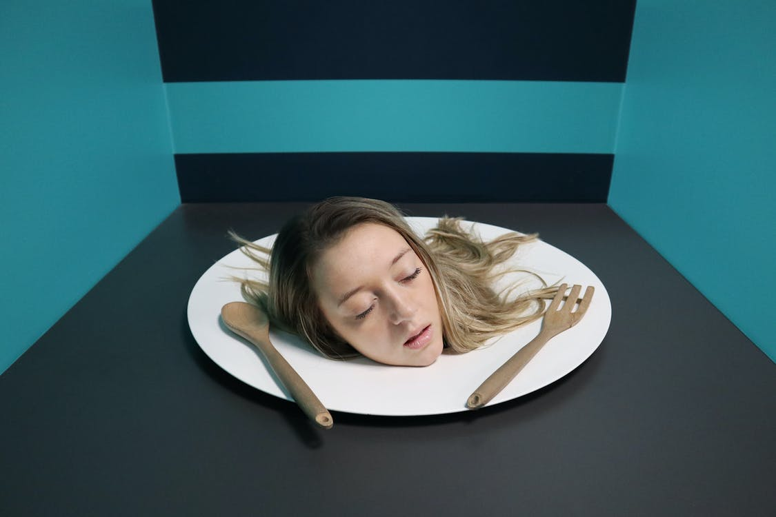 Woman's Head on Plate