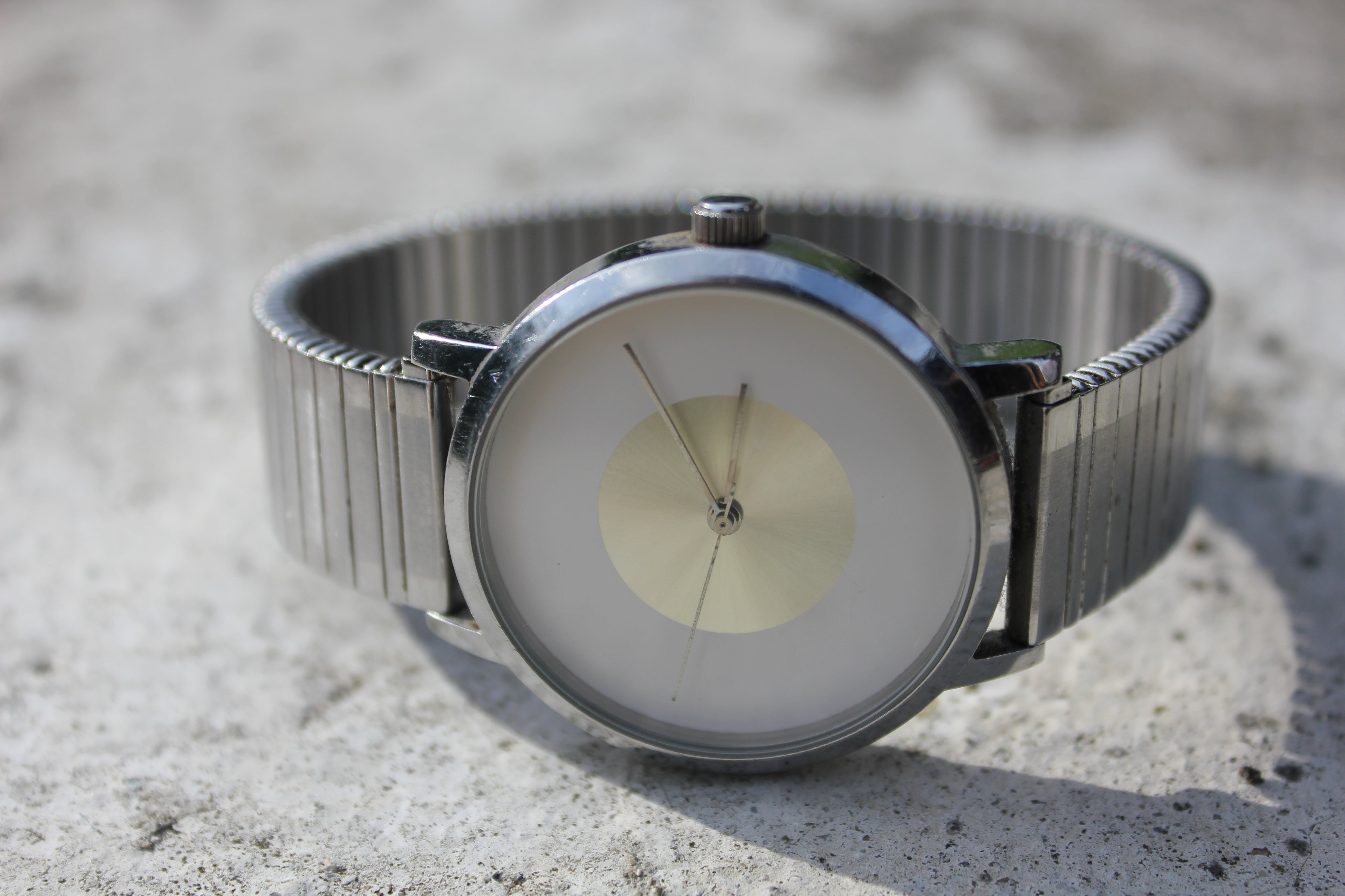 Silver-colored Analog Watch