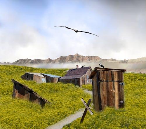 Δωρεάν στοκ φωτογραφιών με δημιουργική φωτογραφία, εγκαταλειμμένος, πόλη φάντασμα, σουρεαλισμός