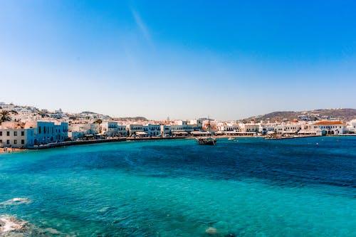 Δωρεάν στοκ φωτογραφιών με mikonos, ακτή, αρχιτεκτονική, βάρκα