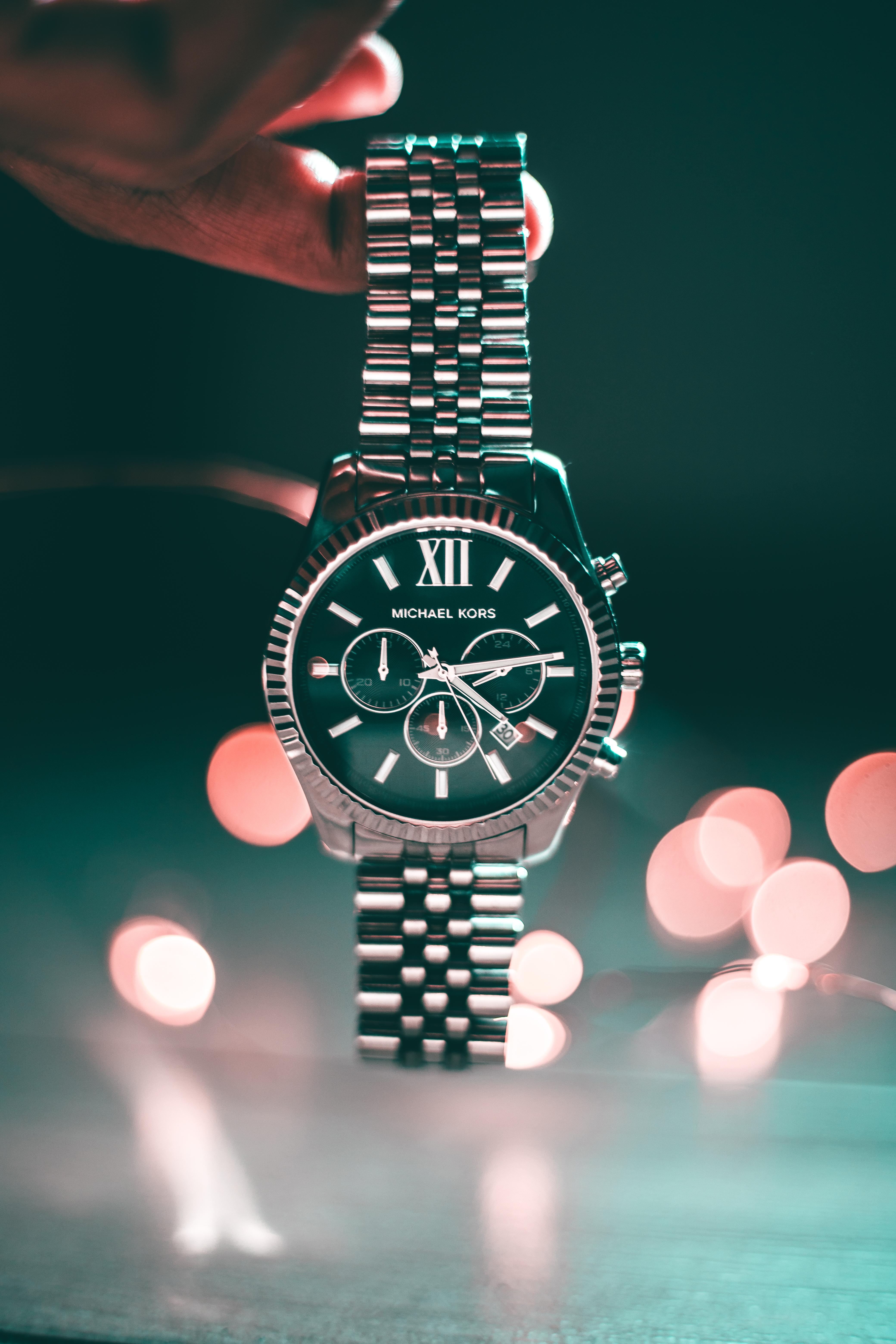 Round Michael Kors Chronograph Watch