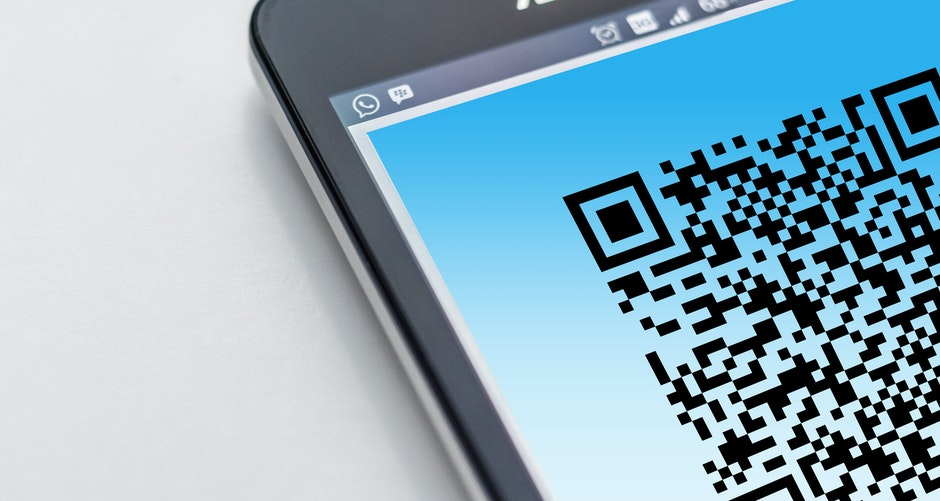 barcode, cellphone, close-up