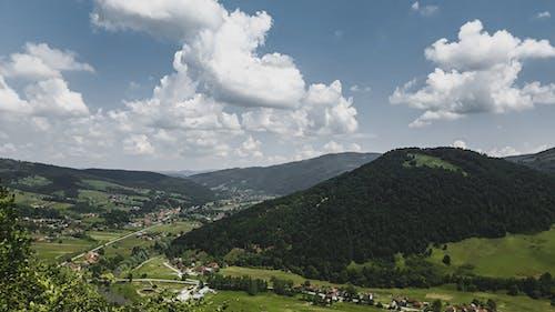 Foto stok gratis awan, gunung, hijau tua, langit
