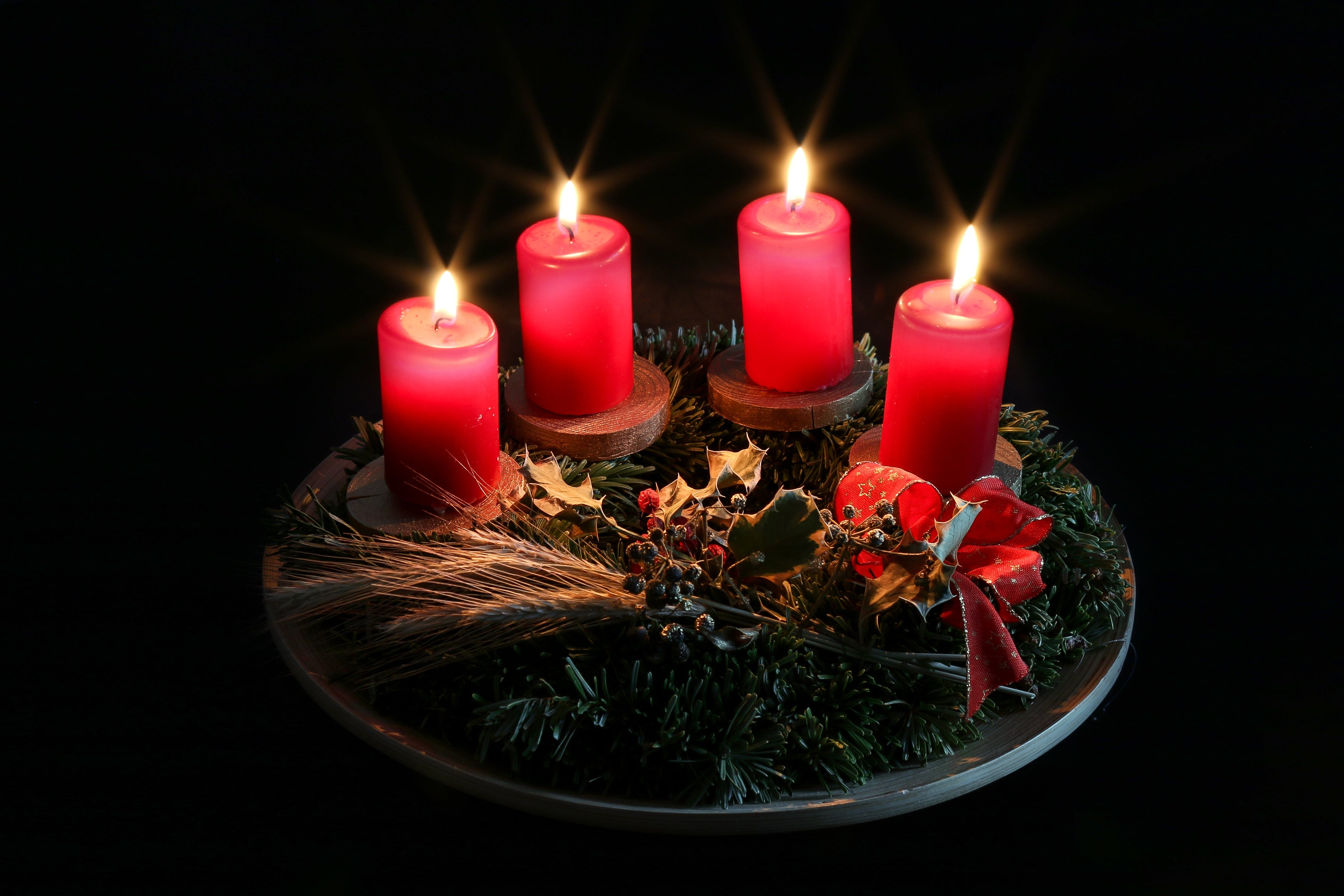 Free stock photo of christmas, advent, candlelight, candle