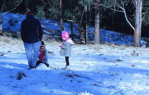 Immagine gratuita di bambini, giocare, neve, tempo freddo
