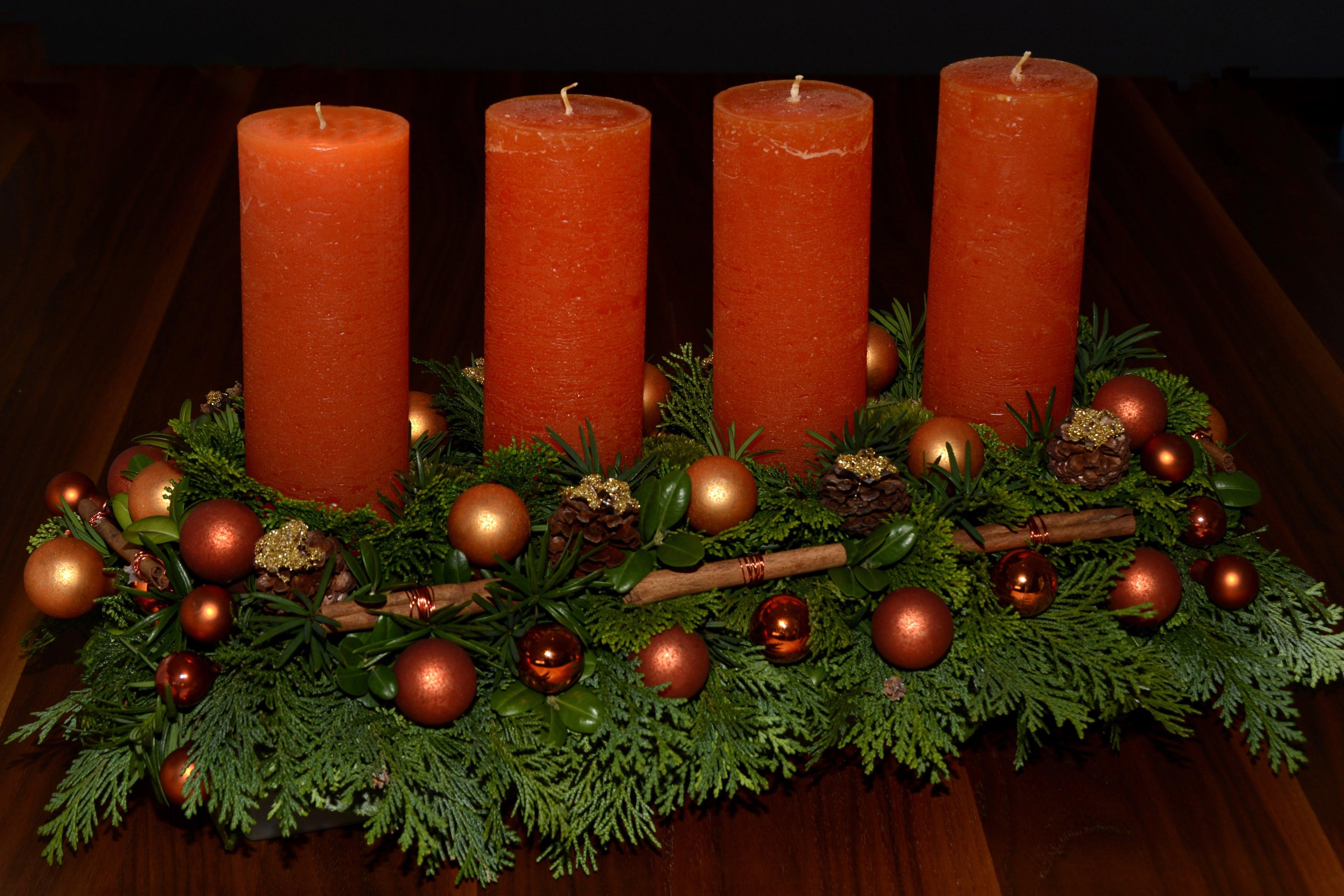 Free stock photo of orange, green, christmas, advent