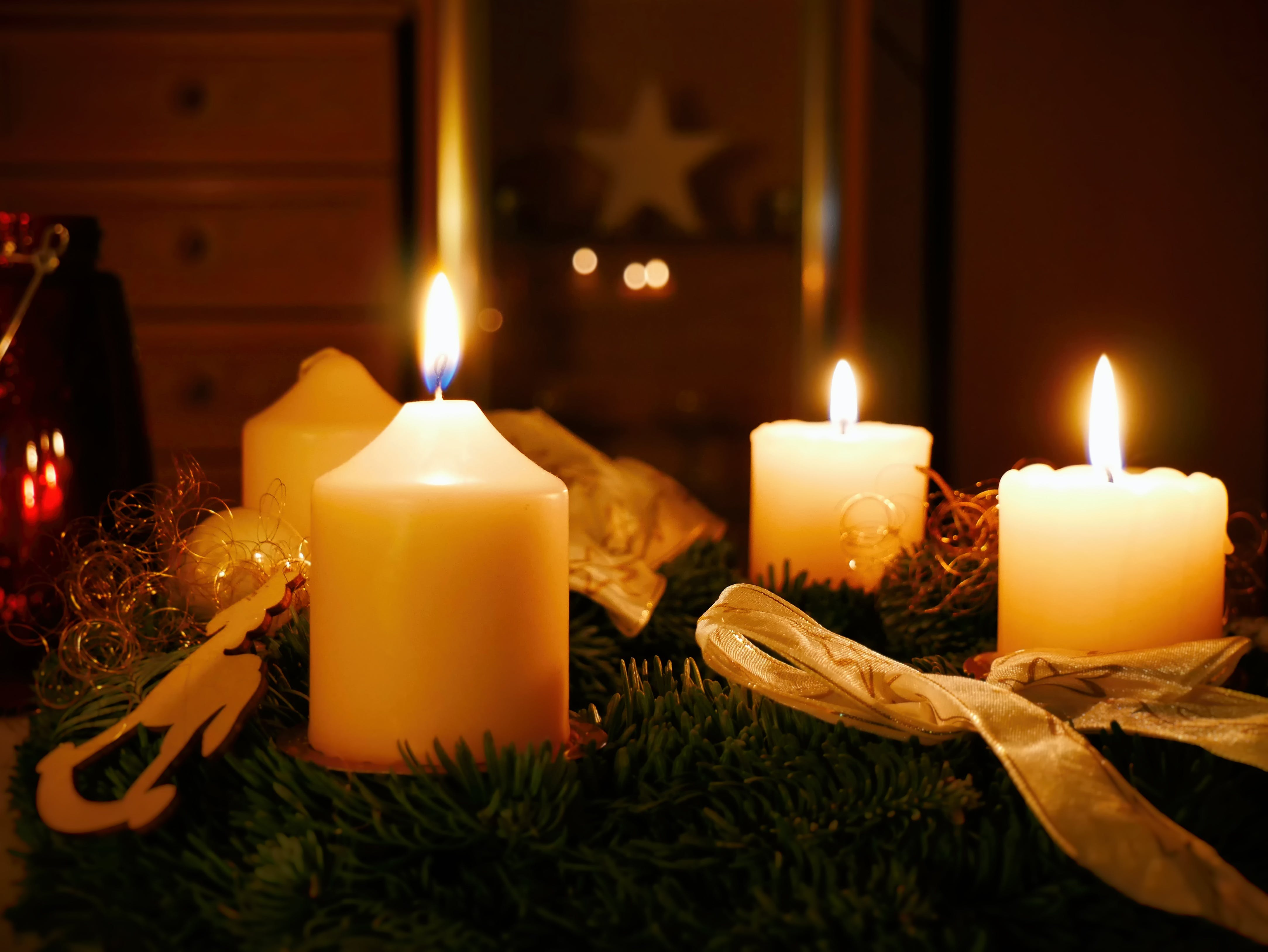 Free stock photo of christmas, advent, candles, christmas decoration