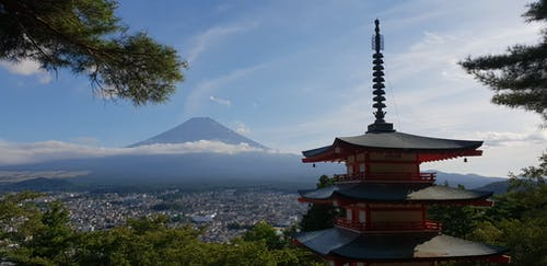 Free stock photo of japan, mount fuji, mountain, shrine