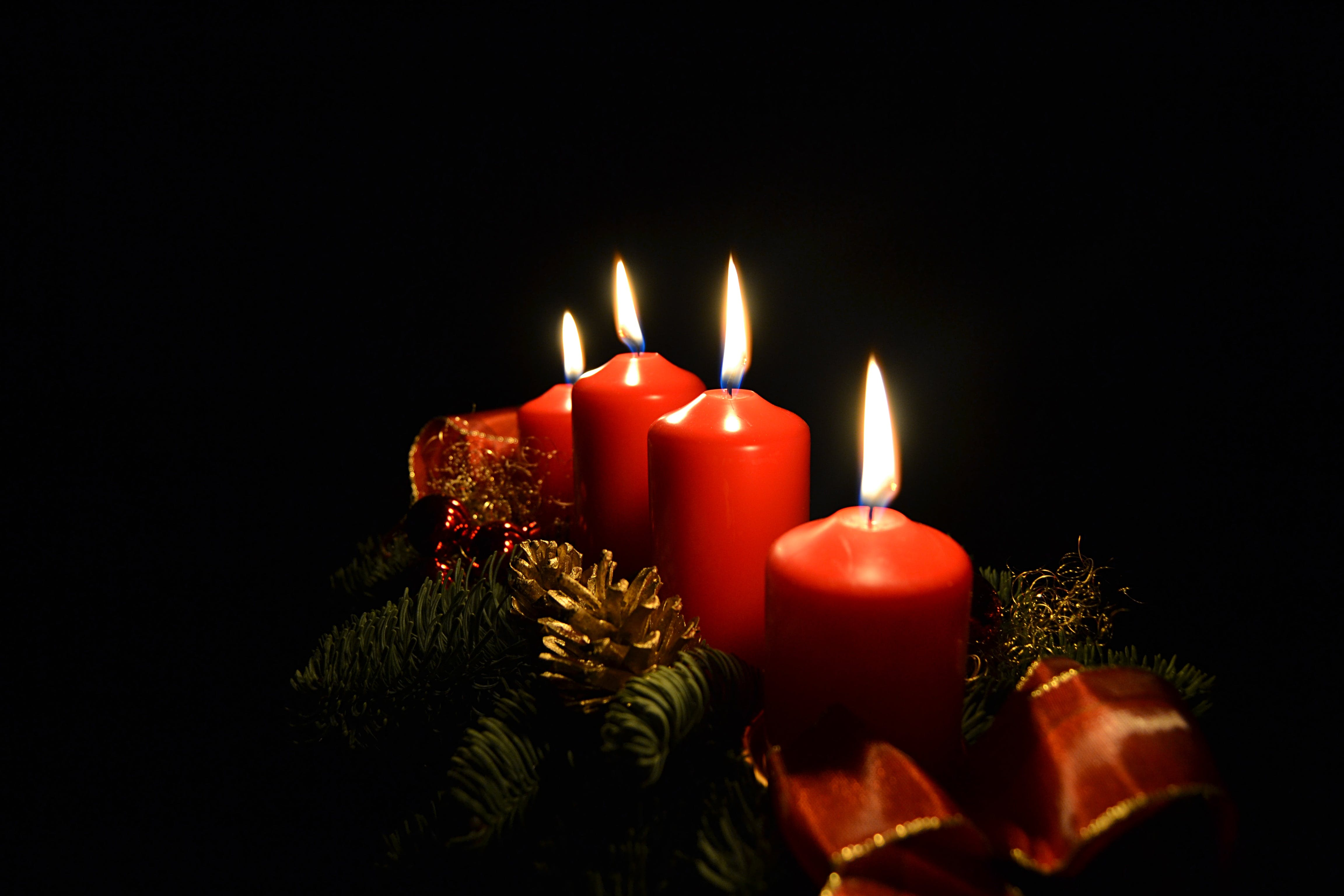 Free stock photo of light, christmas, advent, candles