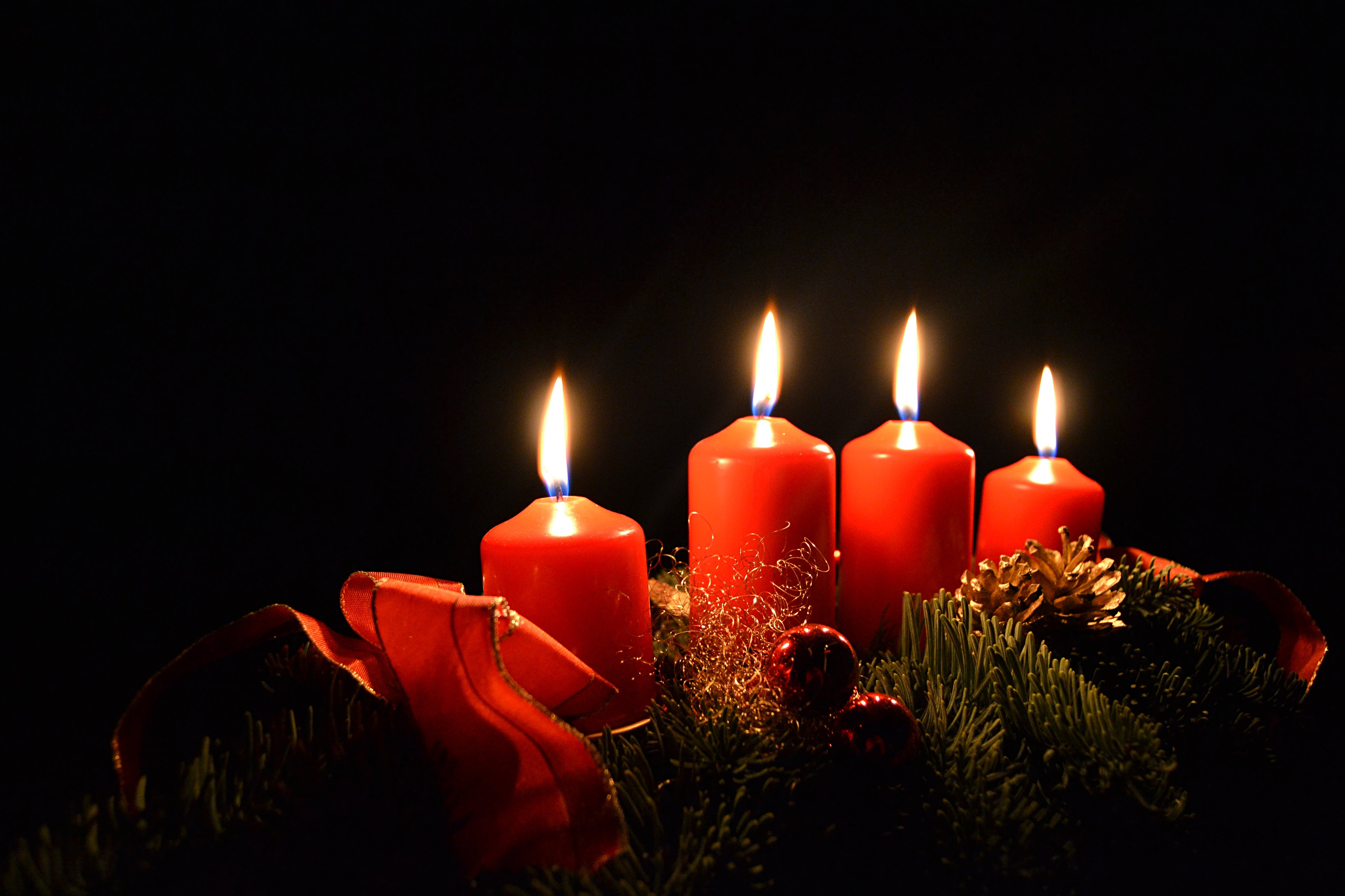 Free stock photo of advent, advent wreath, candles, christmas