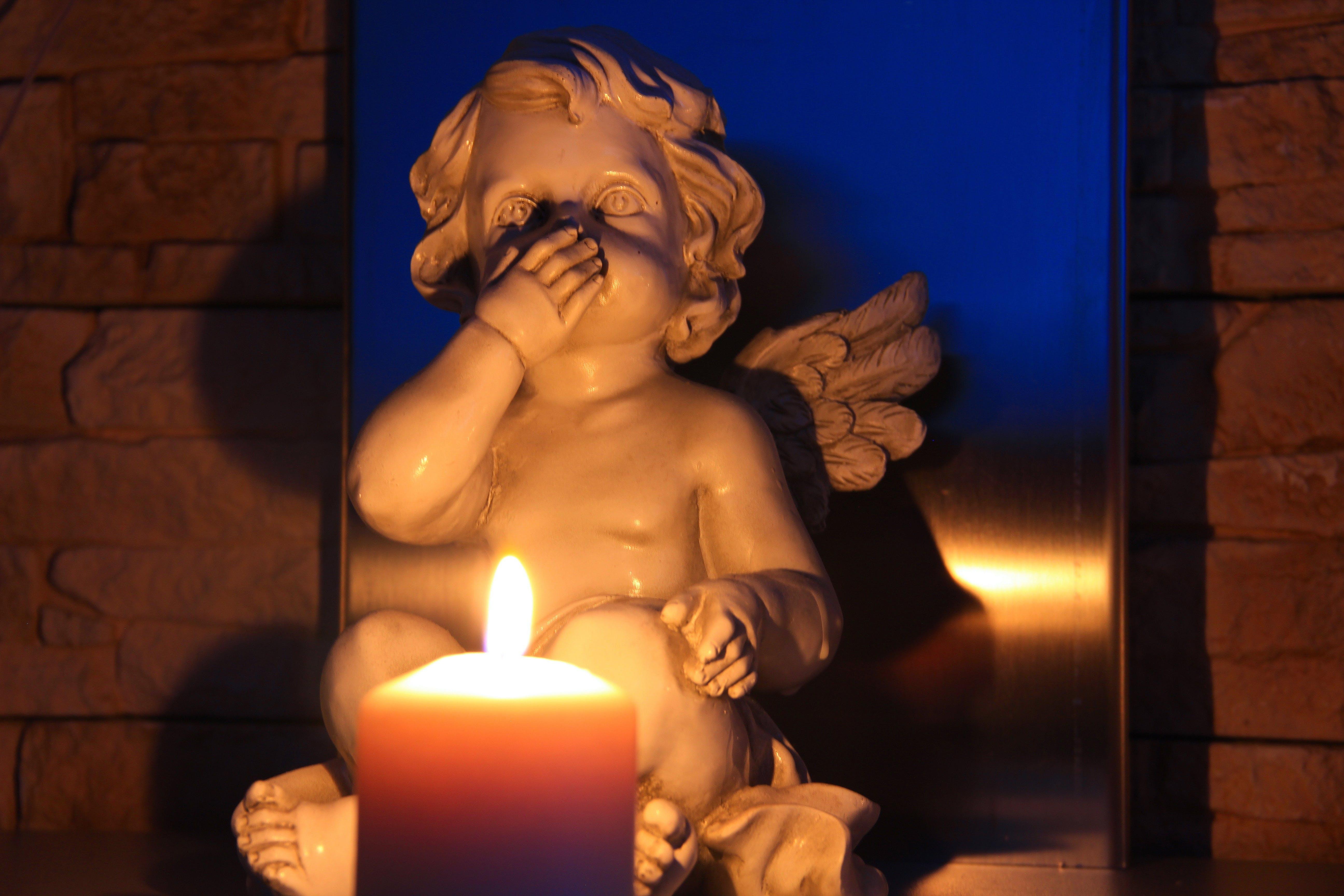 Free stock photo of candle, angel, symbolism, trilogy