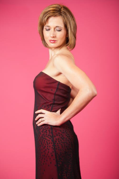 Free stock photo of beautiful woman, brunette, dress, elegance