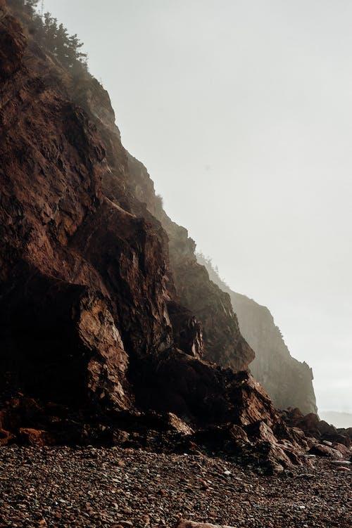 Free stock photo of fog, nikon, rock