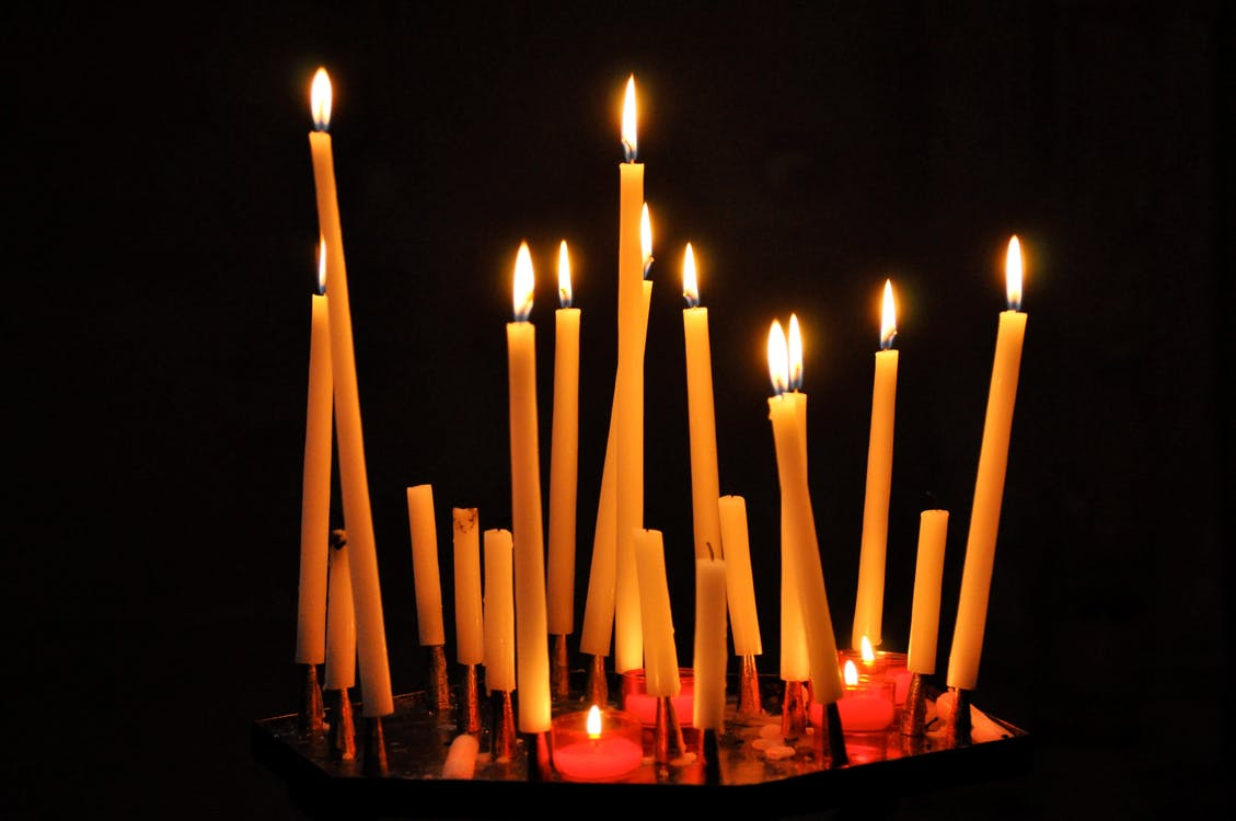 Free stock photo of candle, candles, church